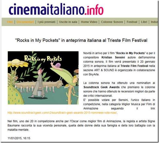 -Rocks in My Pockets- in anteprima italiana al Trieste Film Festival - CinemaItaliano.info